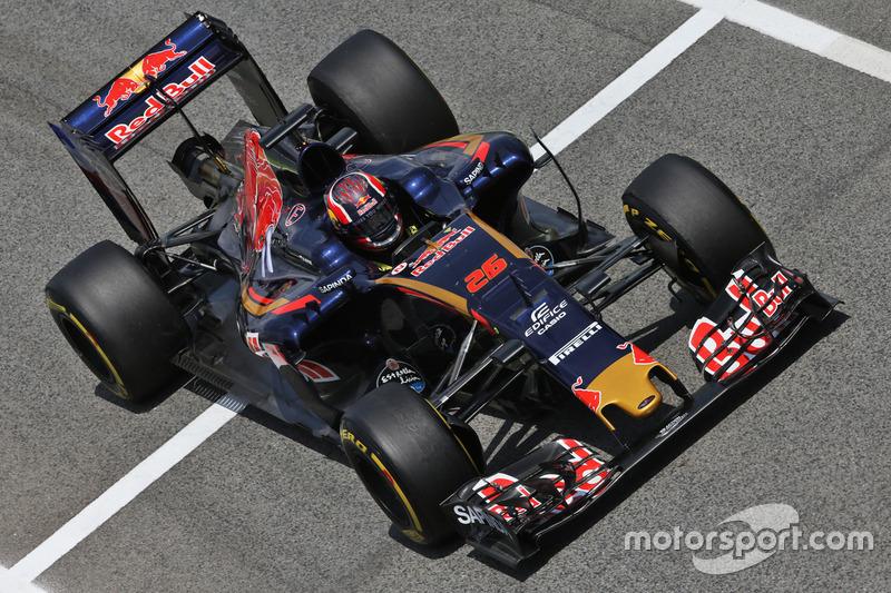 Daniil Kvyat reestreou pela Toro Rosso em Barcelona e também fez história, registrando a primeira volta mais rápida em uma corrida na história da equipe.