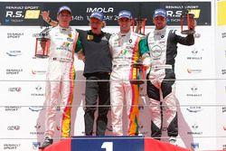 Race 3 podium: winner #4 Oregon Team Renault RS01: Team Bruno Bonifacio, second place #5 Oregon Team