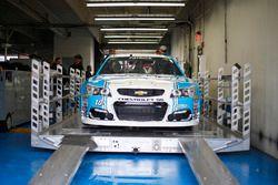 Danica Patrick, Stewart-Haas Racing Chevrolet inspection