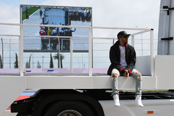 Lewis Hamilton, Mercedes AMG F1 Team pendant la parade des pilotes