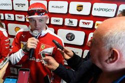 Kimi Raikkonen, Ferrari avec les médias