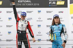 Podium: race winner Sacha Fenestraz, Tech 1 Racing