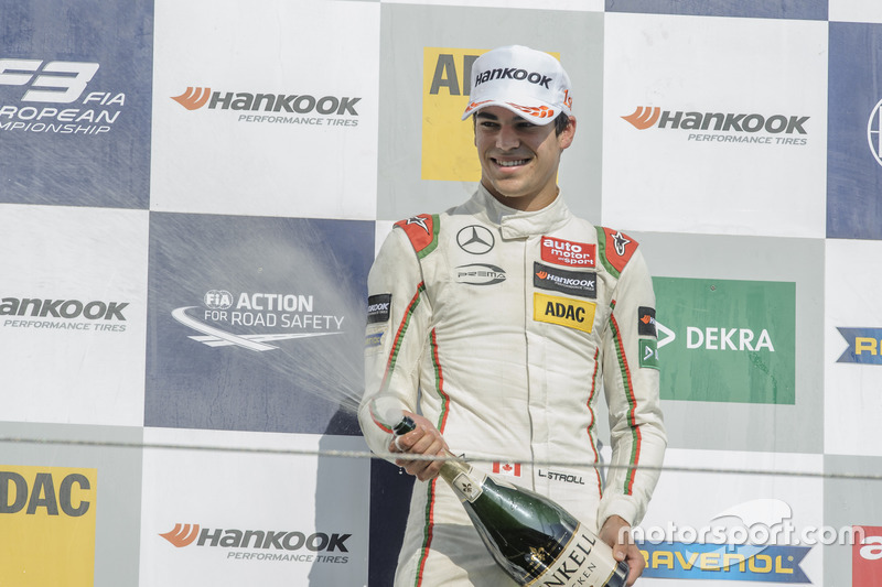 Podium, Lance Stroll Prema Powerteam Dallara F312 - Mercedes-Benz