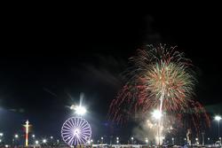 Les feux d'artifice à Daytona