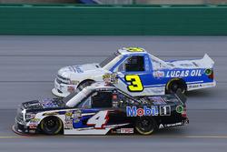 Todd Gilliland, Kyle Busch Motorsports, Toyota Tundra Mobil 1 and Jordan Anderson, Jordan Anderson Racing, Chevrolet Silverado Bommarito Automotive Group