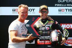 Tweede plaats Jonathan Rea, Kawasaki Racing, Pierfrancesco Chili