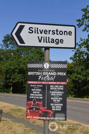 Silverstone Village road sign