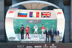 Podium: race winner Anthoine Hubert, ART Grand Prix, second place Nikita Mazepin, ART Grand Prix, third place Callum Ilott, ART Grand Prix