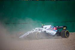 Sergey Sirotkin, Williams FW41, in the gravel