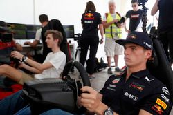 Max Verstappen, Red Bull Racing on a racing simulator