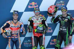 Top 3 calificados: Dani Pedrosa, Repsol Honda Team, Cal Crutchlow, Team LCR Honda, Johann Zarco, Monster Yamaha Tech 3