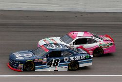 Brennan Poole, Chip Ganassi Racing Chevrolet and Elliott Sadler, JR Motorsports Chevrolet