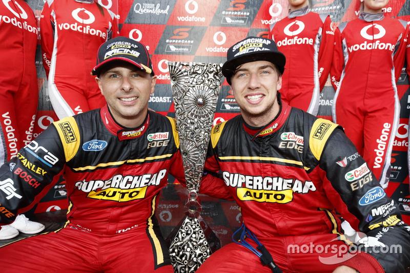 Endurance cup winners Chaz Mostert, Steven Owen, Rod Nash Racing Ford