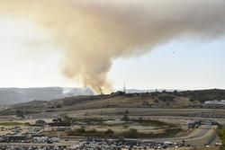 Дым от местного пожара