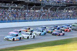Райан Блэни, Wood Brothers Racing Ford, Брэд Кеселовски, Team Penske Ford и Тревор Бейн, Roush Fenwa