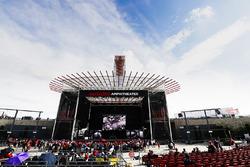 The Austin 360 Amphitheatre stage