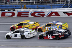 Brad Keselowski, Team Penske Ford, Joey Logano, Team Penske Ford, Ricky Stenhouse Jr., Roush Fenway Racing Ford, and Clint Bowyer, Stewart-Haas Racing Ford