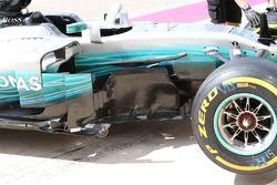 Mercedes AMG F1, barge board