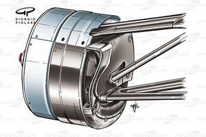Sauber F1.06 front brake duct