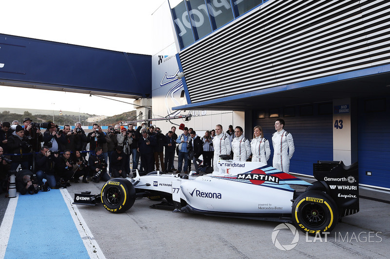Valtteri Bottas, Felipe Massa, Susie Wolff e Alex Lynn, lançamento do FW37