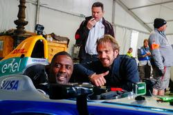 Jean-Eric Vergne, Techeetah, se encuentra con el actor Idris Elba