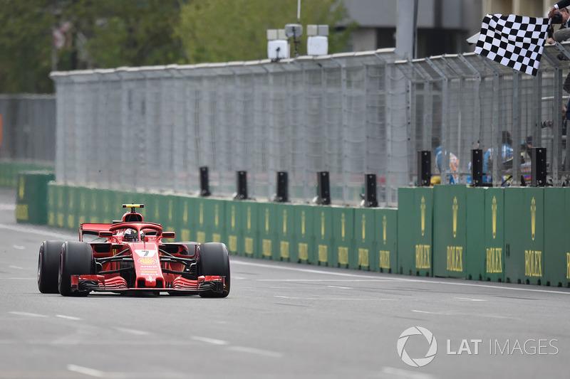 Tweede plaats, Kimi Raikkonen, Ferrari SF71H