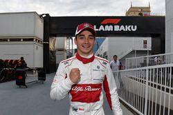Charles Leclerc, Sauber celebra