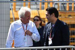 Charlie Whiting, FIA Delegate en Arif Rahimov, Baku Street Circuit Promoter