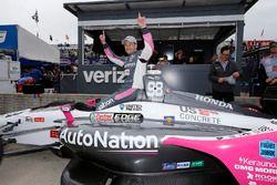 Marco Andretti, Herta - Andretti Autosport Honda viert het winnen van de Verizon P1 Pole Award