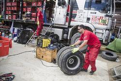 Toyota Gazoo Racing in het bivak