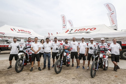 #61 Hero MotoSports Team Rally: Oriol Mena, #49 Hero MotoSports Team Rally: CS Santosh, #26 Hero Mot