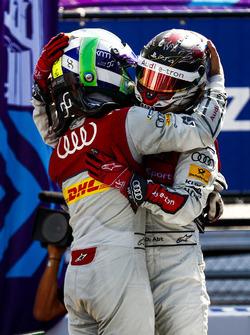 Lucas di Grassi, Audi Sport ABT Schaeffler, Daniel Abt, Audi Sport ABT Schaeffler, celebra