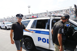 Andre Lotterer, Techeetah, with New York City police
