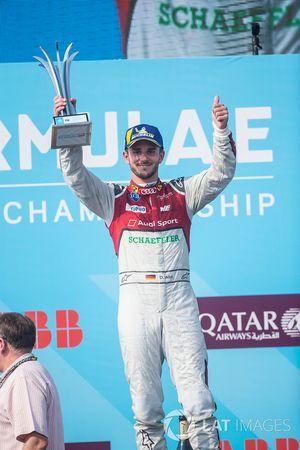 Daniel Abt, Audi Sport ABT Schaeffler, festeggia sul podio