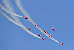La patrouille des 'Red Arrows'