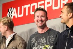 BTCC champion drivers Ashley Sutton, Gordon Shedden and Colin Turkington on the Autosport Stage