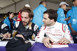 Jean-Eric Vergne, Techeetah, Jérôme d'Ambrosio, Dragon Racing, sign autographs for fans