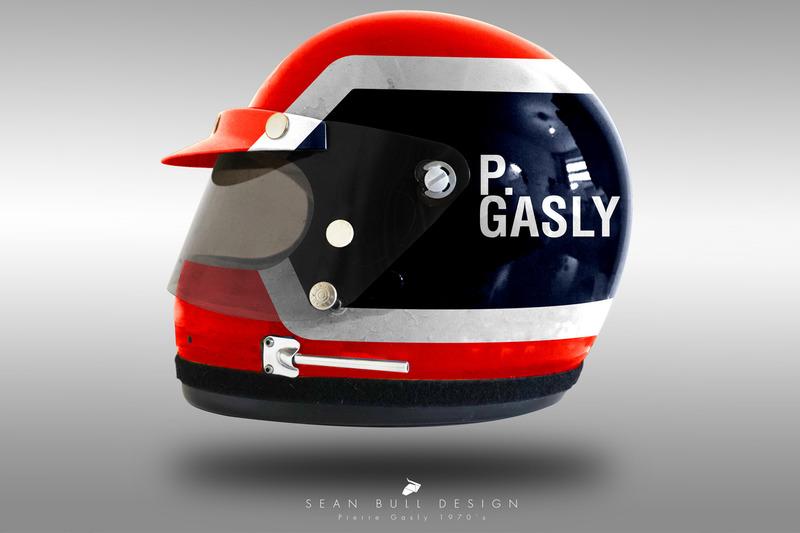 Casco concepto 1970 de Pierre Gasly