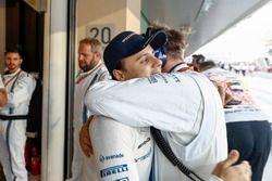 Felipe Massa, Williams, bereidt zich voor op zijn laatste race in de F1