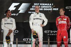 Podium: race winner Valtteri Bottas, Mercedes AMG F1, second place Lewis Hamilton, Mercedes AMG F1, third place Sebastian Vettel, Ferrari