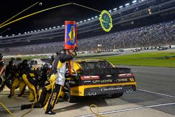 Brendan Gaughan, Richard Childress Racing Chevrolet, makes a pit stop