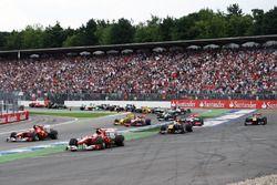 Felipe Massa, Ferrari F10 se sigue de largo y toma la delantera en el comienzo de la carrera