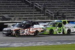 Myatt Snider, Kyle Busch Motorsports Toyota and Kaz Grala, GMS Racing Chevrolet
