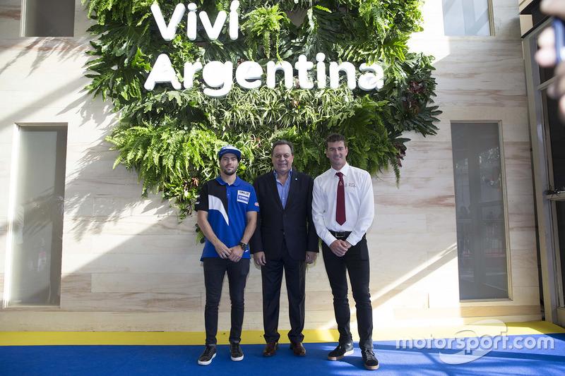 Franco Caimi, Ministro de Turismo de la Nación Gustavo Santos y Marc Coma