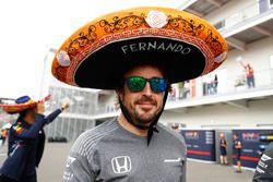 Fernando Alonso, McLaren, avec un Sombrero