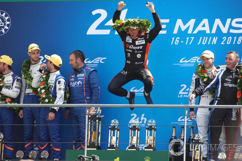 LMP2 podio: Roman Rusinov, G-Drive Racing