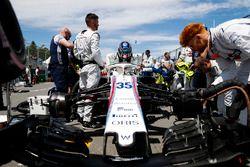 Sergey Sirotkin, Williams FW41, sur la grille