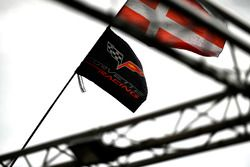 #63 Corvette Racing Chevrolet Corvette C7.R: Jan Magnussen, Antonio Garcia, Mike Rockenfeller, flags