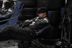 A Proton Competition team member sleeps