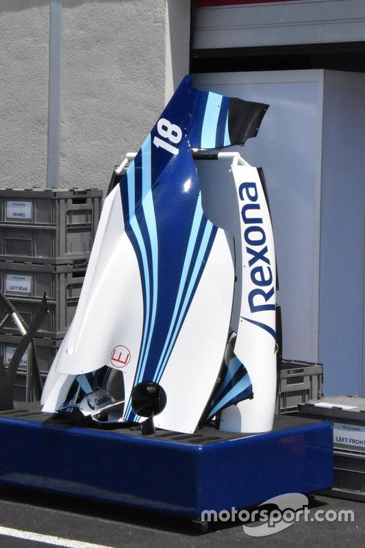 Williams FW41, cofano motore